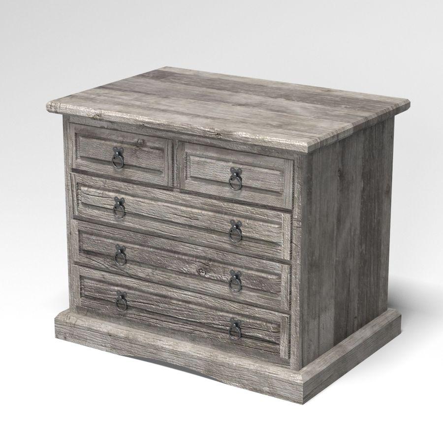 Colección de muebles de dormitorio royalty-free modelo 3d - Preview no. 18