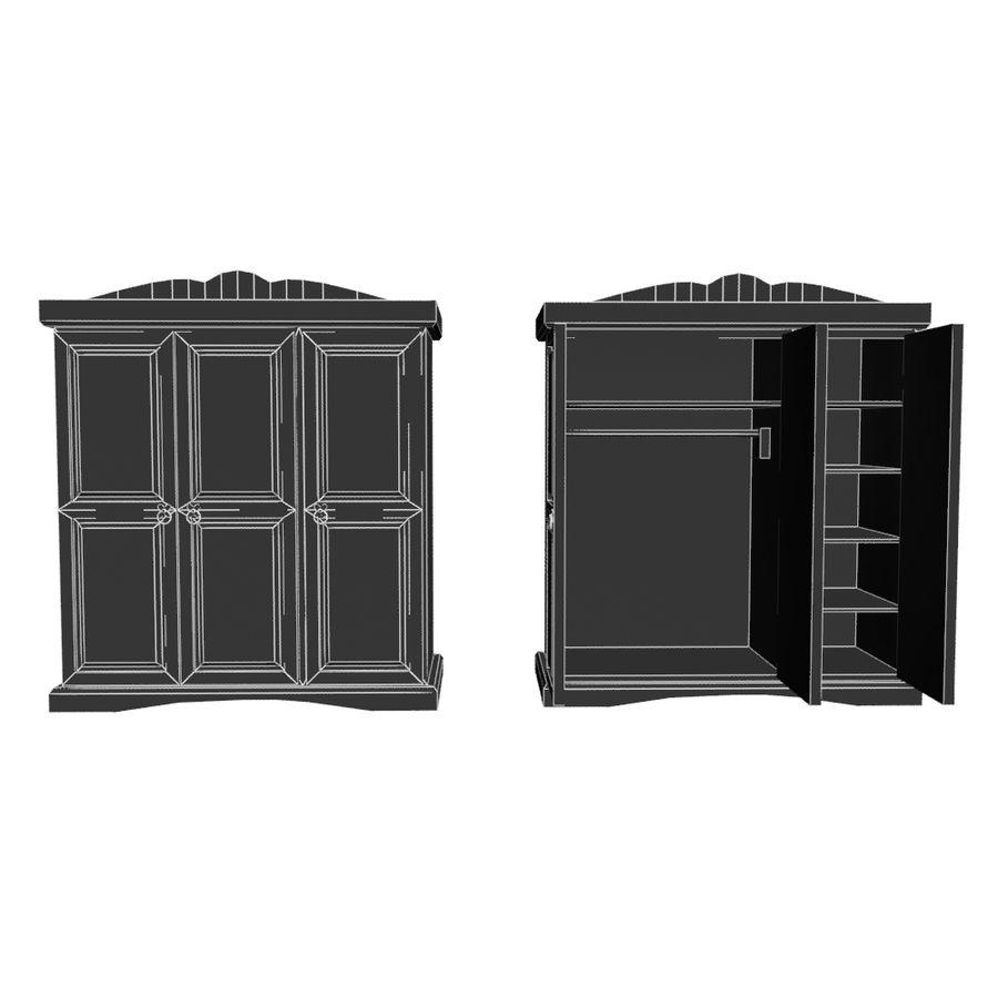 Colección de muebles de dormitorio royalty-free modelo 3d - Preview no. 26