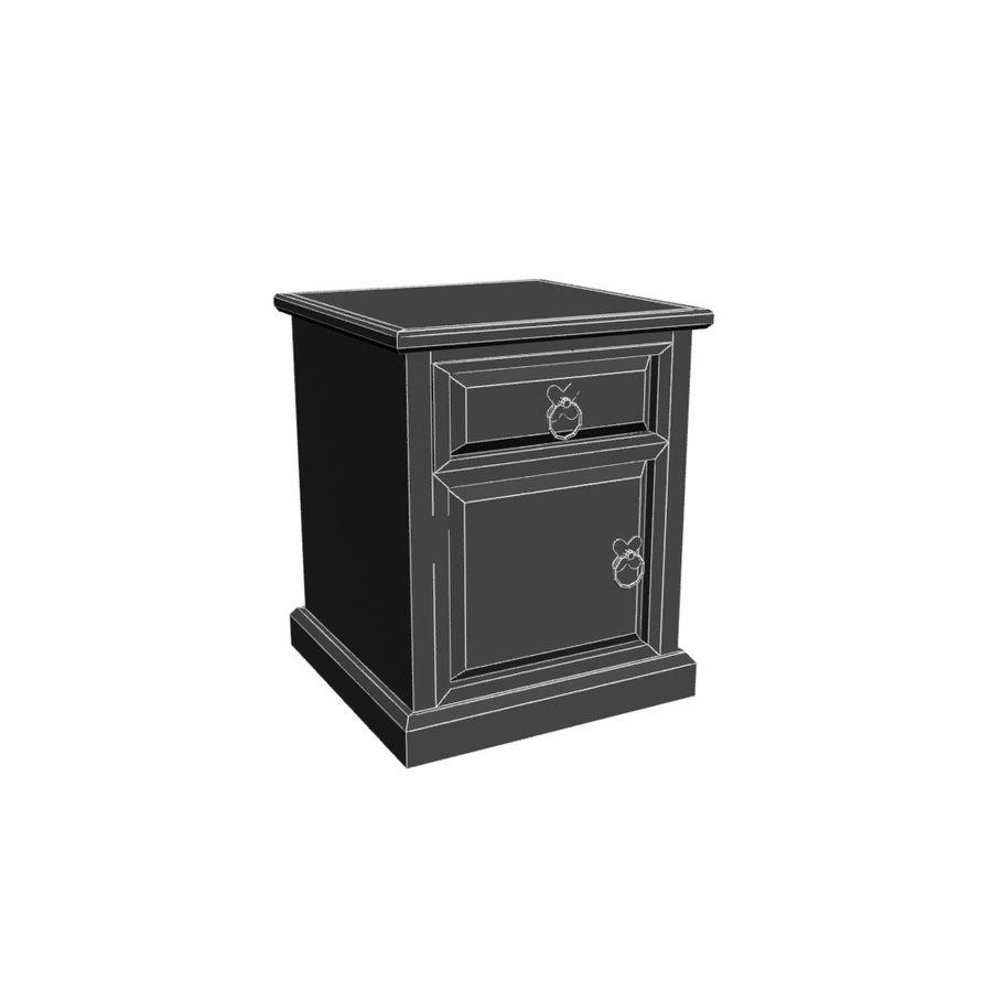 Colección de muebles de dormitorio royalty-free modelo 3d - Preview no. 13