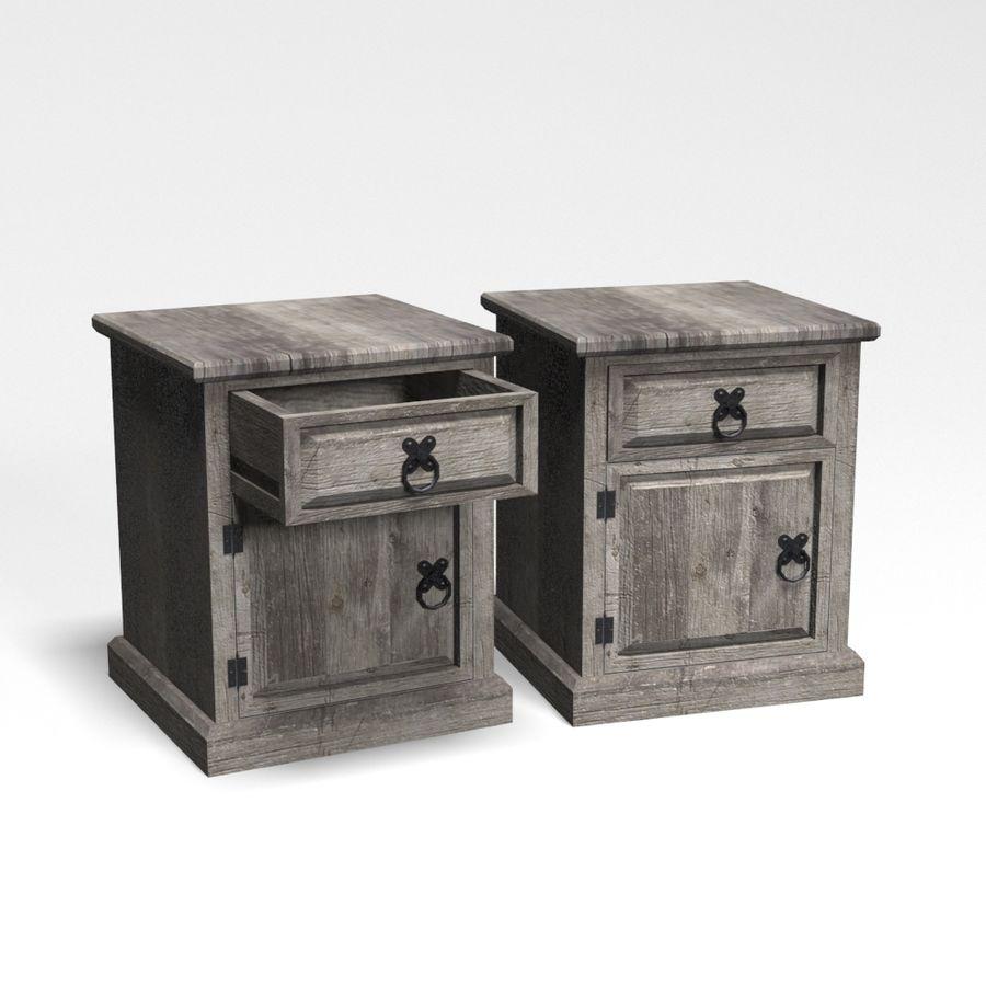 Colección de muebles de dormitorio royalty-free modelo 3d - Preview no. 9