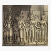 Ankor Wat Bas Relief 2 Skanowanie 3D 3d model