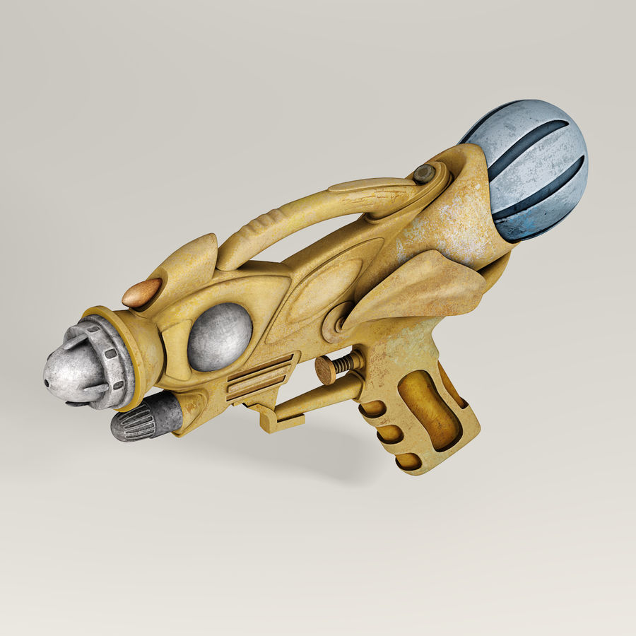 Arma Steampunk royalty-free 3d model - Preview no. 4