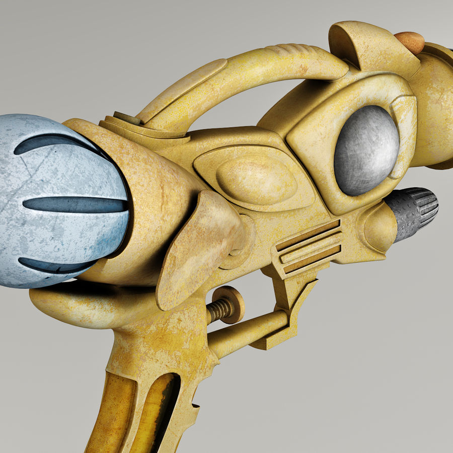 Arma Steampunk royalty-free 3d model - Preview no. 9