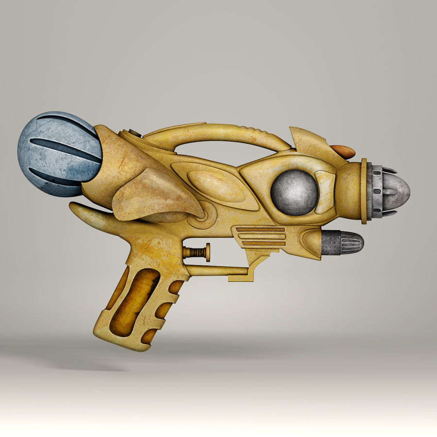 Arma Steampunk royalty-free 3d model - Preview no. 3