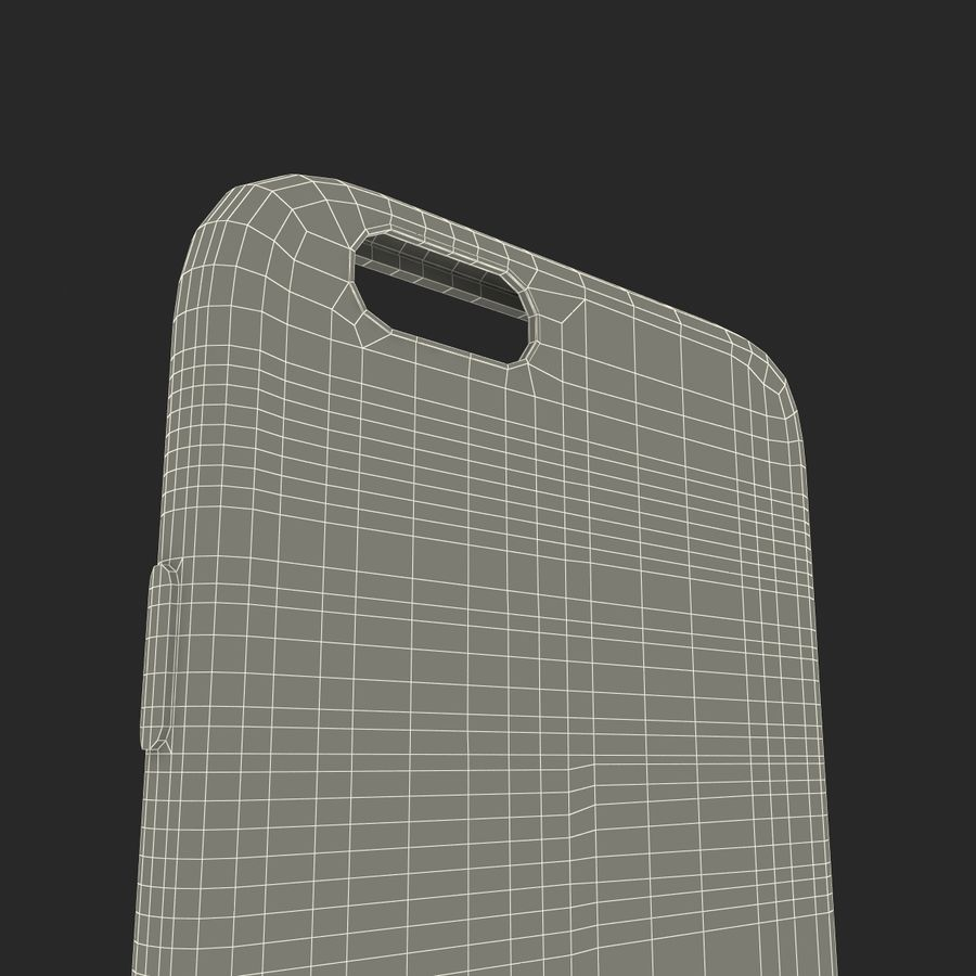 iPhone 6 Plus Leather Case Grey royalty-free 3d model - Preview no. 27