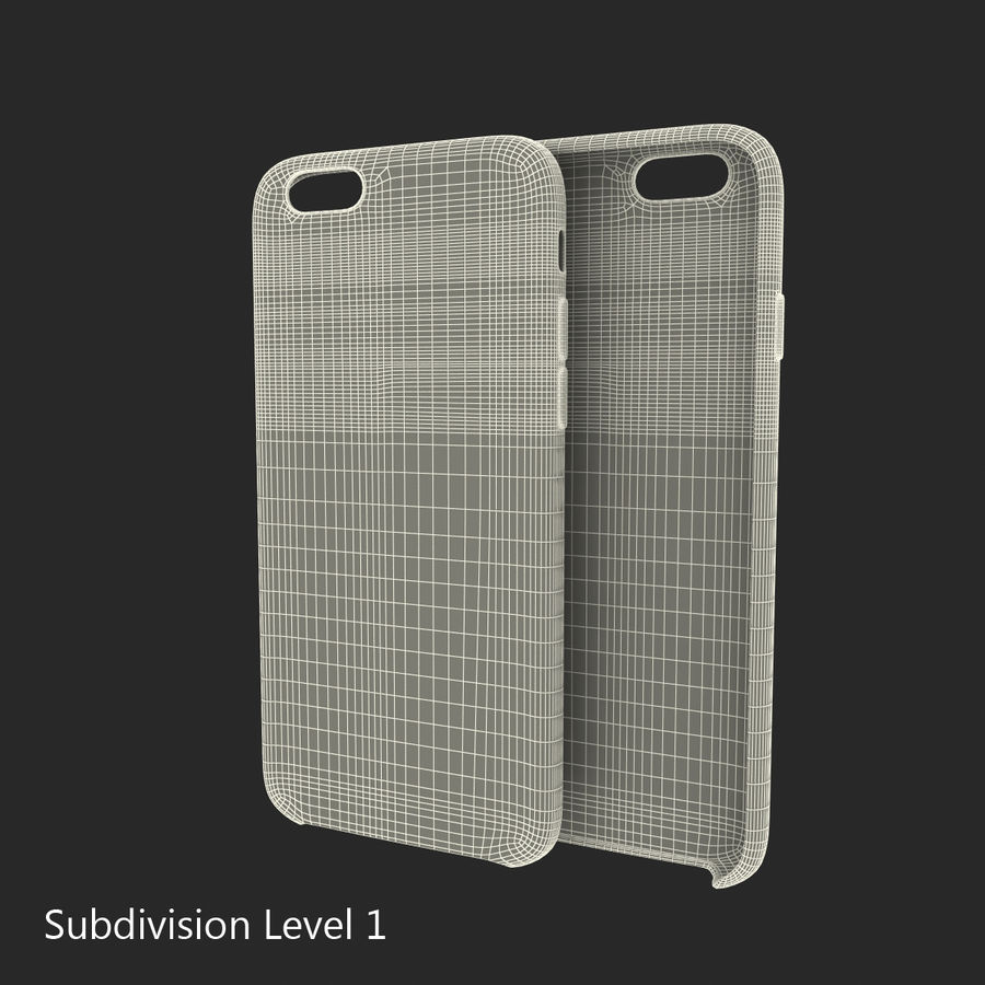 iPhone 6 Plus Leather Case Grey royalty-free 3d model - Preview no. 19