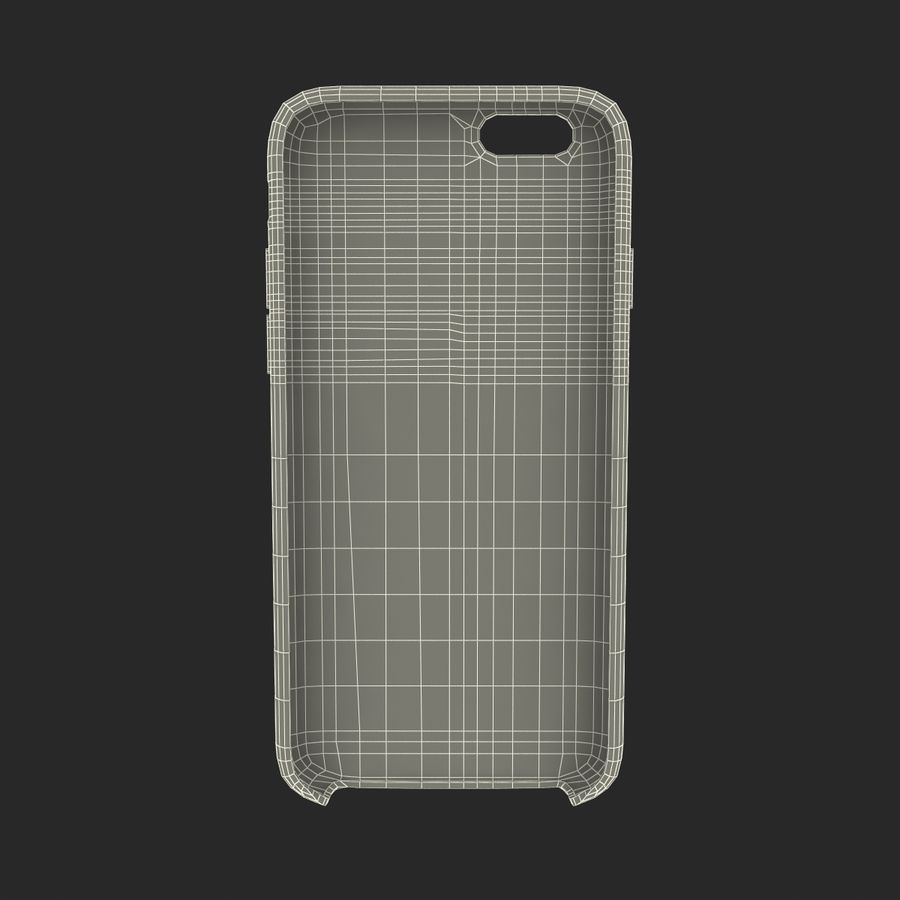 iPhone 6 Plus Leather Case Grey royalty-free 3d model - Preview no. 24