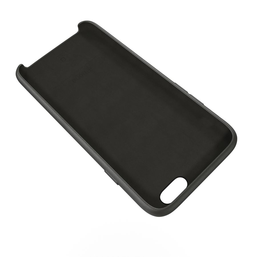 iPhone 6 Plus Leather Case Grey royalty-free 3d model - Preview no. 13