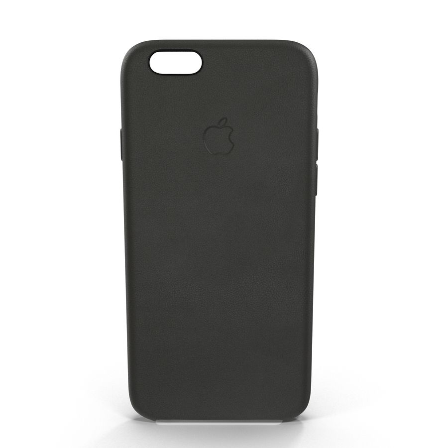 iPhone 6 Plus Leather Case Grey royalty-free 3d model - Preview no. 3