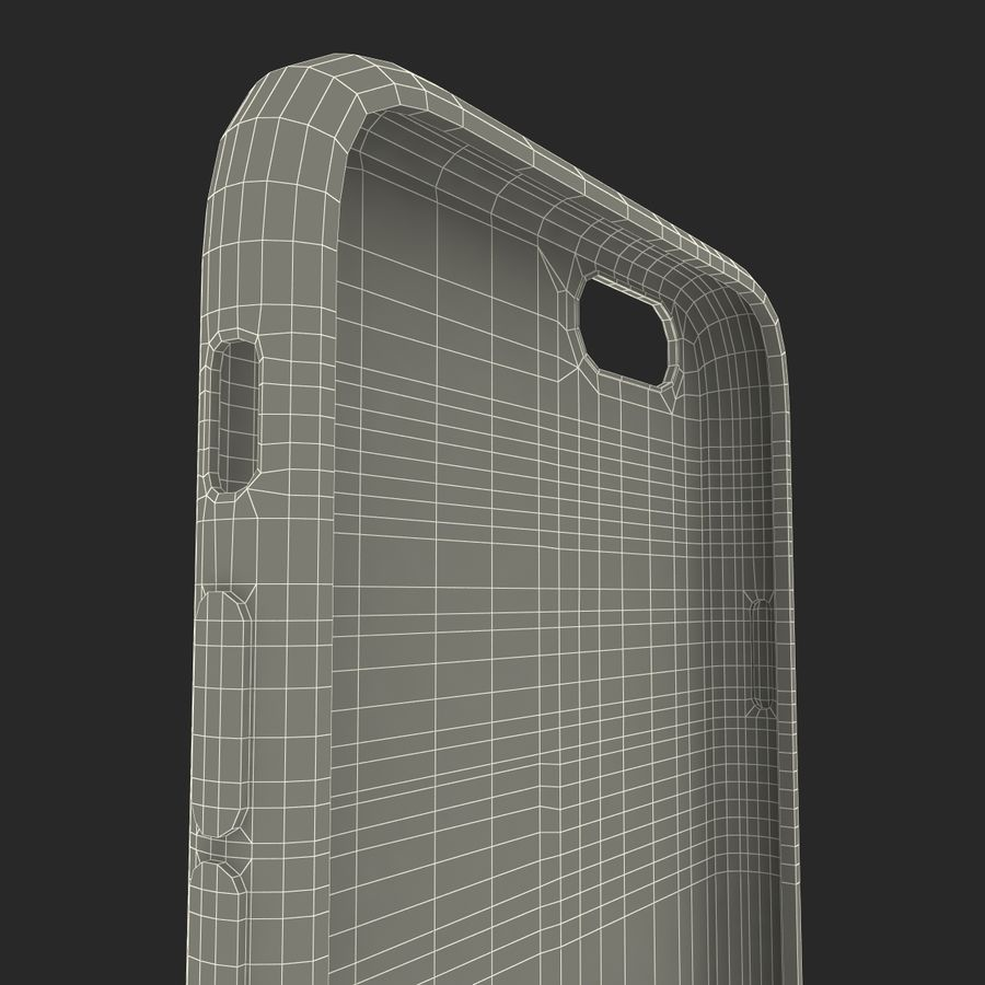 iPhone 6 Plus Leather Case Grey royalty-free 3d model - Preview no. 28