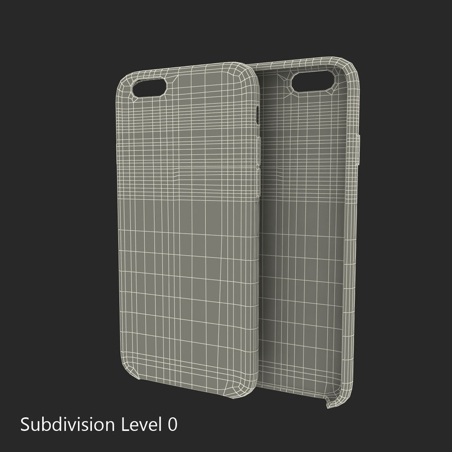iPhone 6 Plus Leather Case Grey royalty-free 3d model - Preview no. 18