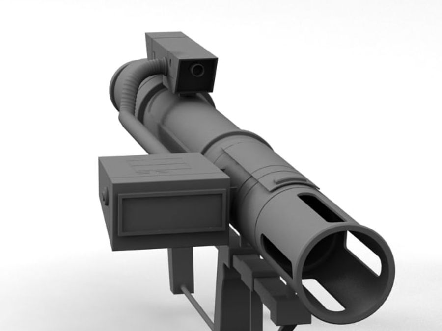 bazooka royalty-free 3d model - Preview no. 7