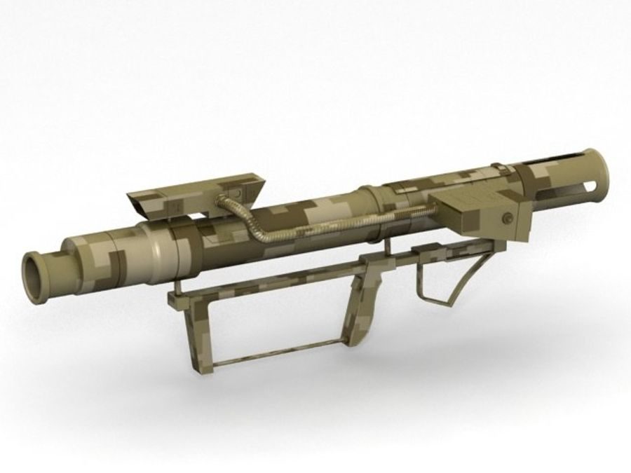 bazooka royalty-free 3d model - Preview no. 1