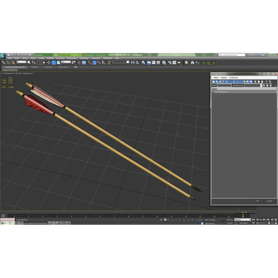 Bow Arrows Set royalty-free 3d model - Preview no. 27