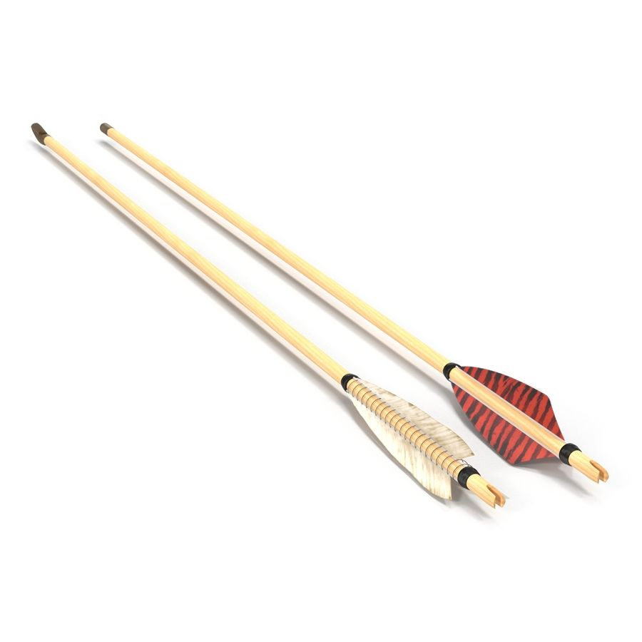 Bow Arrows Set royalty-free 3d model - Preview no. 3
