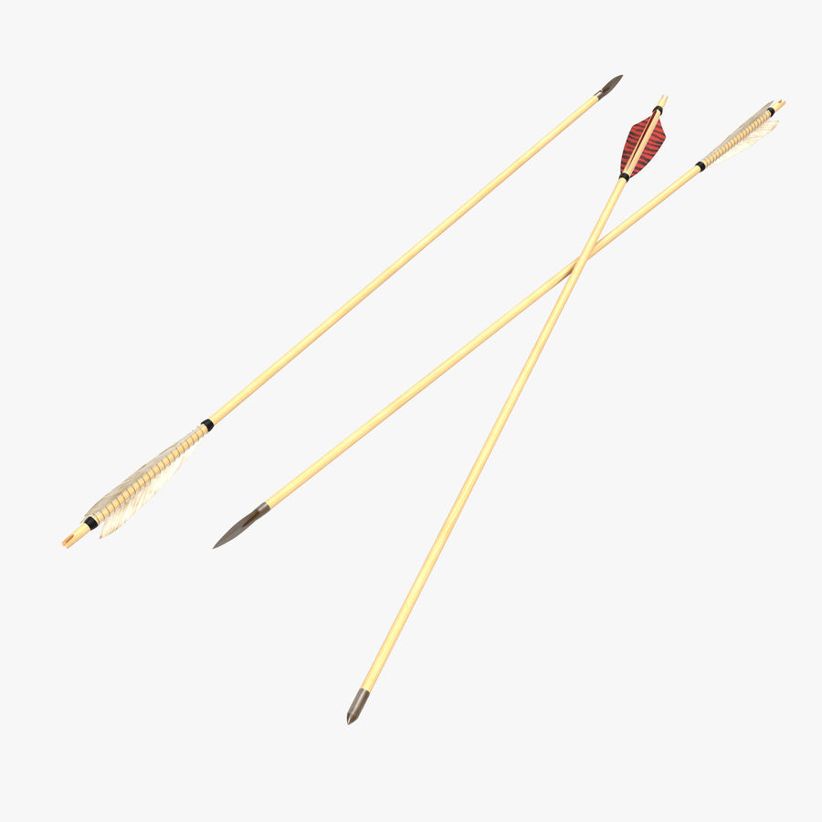 Bow Arrows Set royalty-free 3d model - Preview no. 1