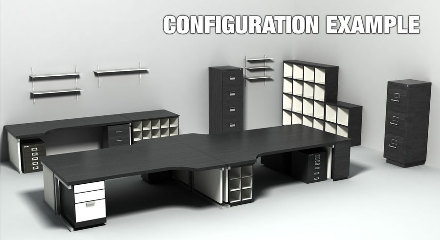 Office Furniture Collection royalty-free 3d model - Preview no. 5