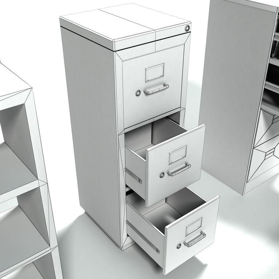 Collezione di mobili per ufficio royalty-free 3d model - Preview no. 9