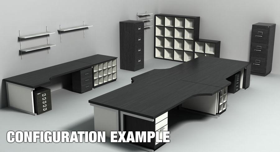 Collezione di mobili per ufficio royalty-free 3d model - Preview no. 3