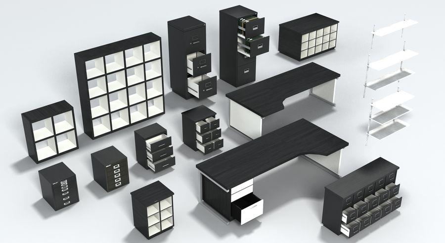 Collezione di mobili per ufficio royalty-free 3d model - Preview no. 33