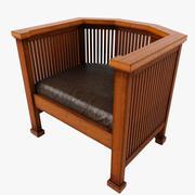 Octagonal Backed Chair 3d model