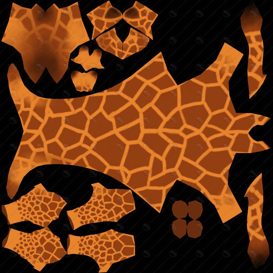Cartoon Giraffe royalty-free 3d model - Preview no. 9