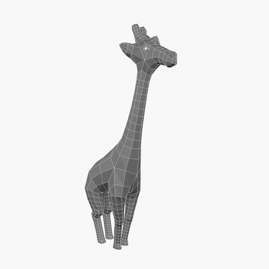 Cartoon Giraffe royalty-free 3d model - Preview no. 6