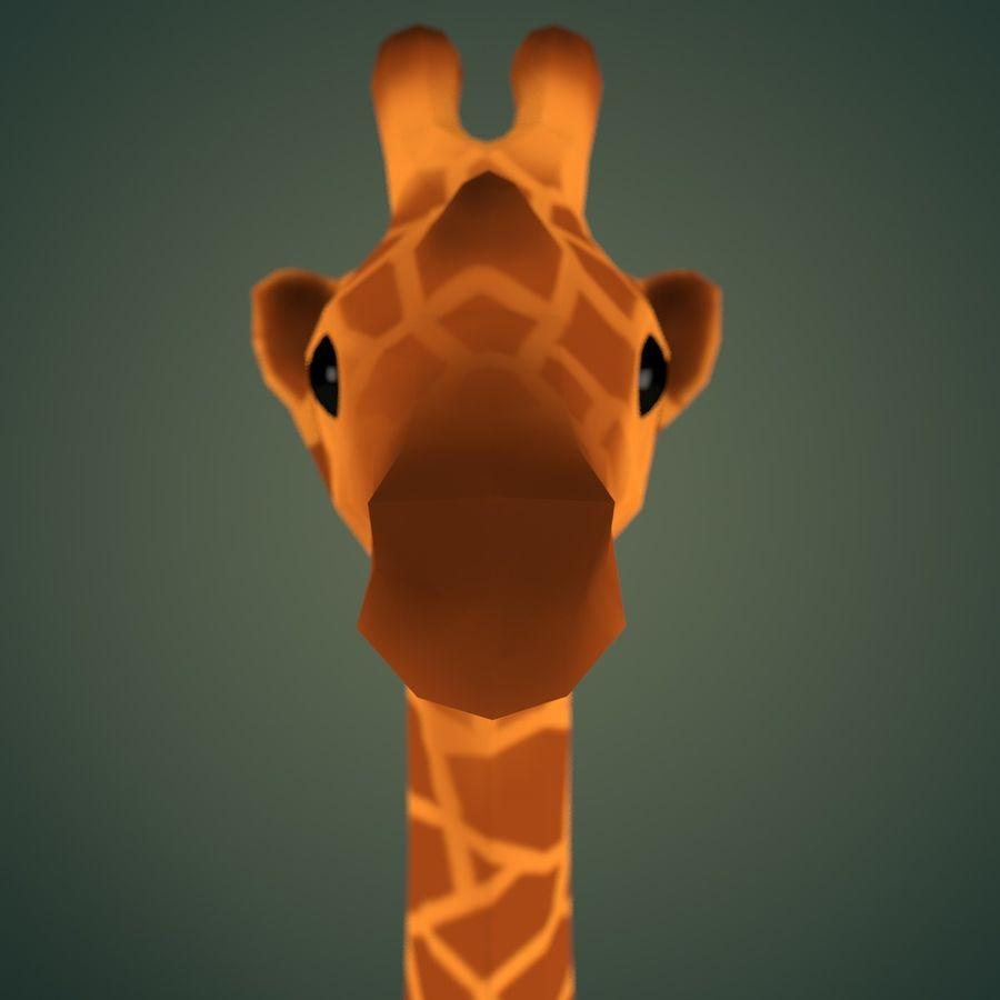 Cartoon Giraffe royalty-free 3d model - Preview no. 2