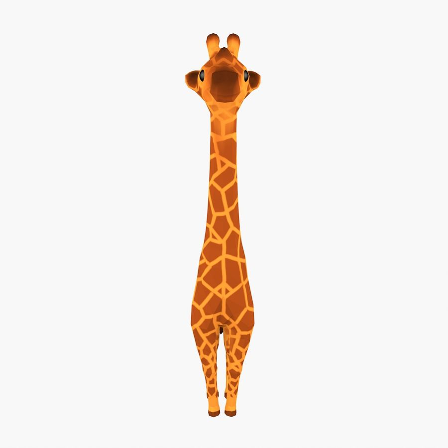 Cartoon Giraffe royalty-free 3d model - Preview no. 1