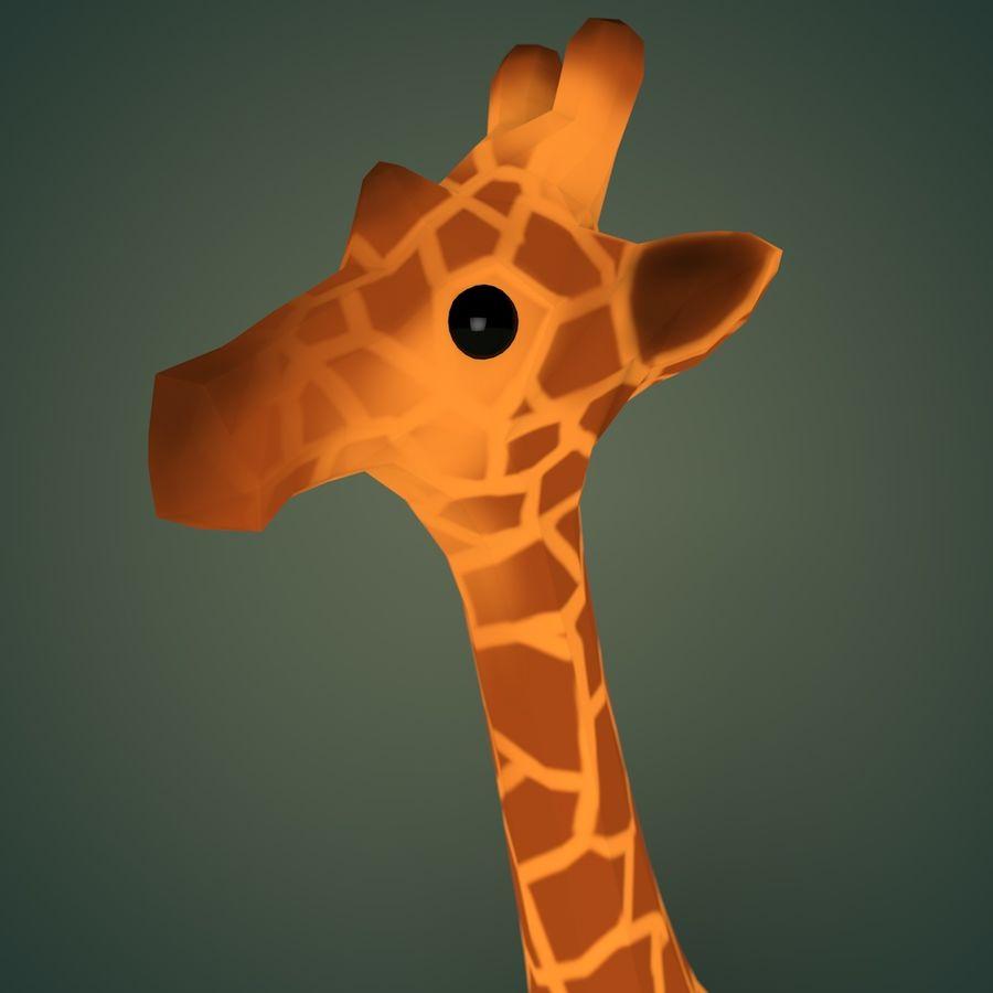Cartoon Giraffe royalty-free 3d model - Preview no. 3