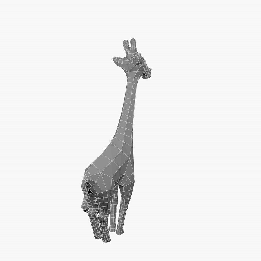 Cartoon Giraffe royalty-free 3d model - Preview no. 7