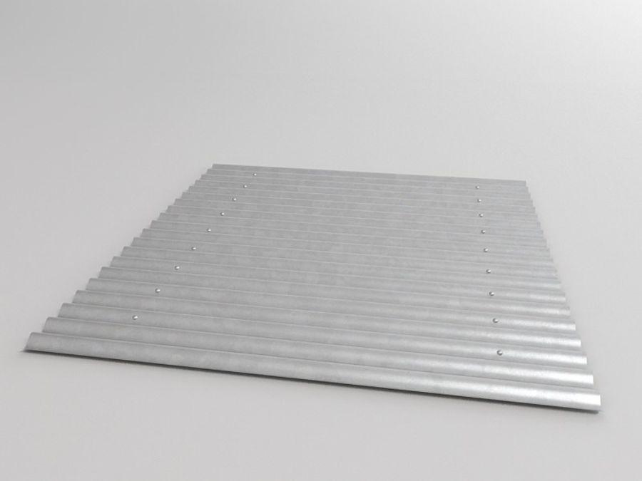 金属屋顶板 royalty-free 3d model - Preview no. 4