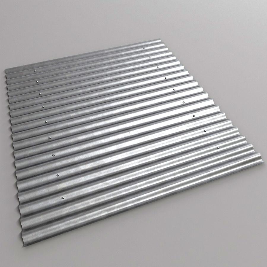金属屋顶板 royalty-free 3d model - Preview no. 2