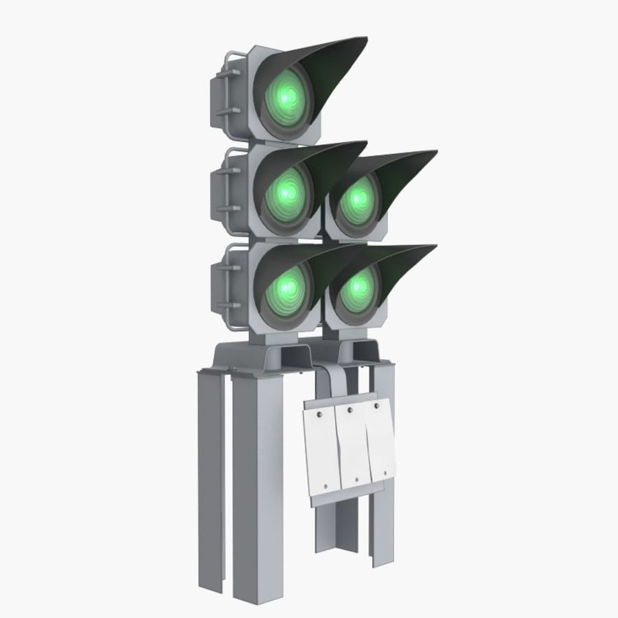Railway Traffic Light royalty-free 3d model - Preview no. 2