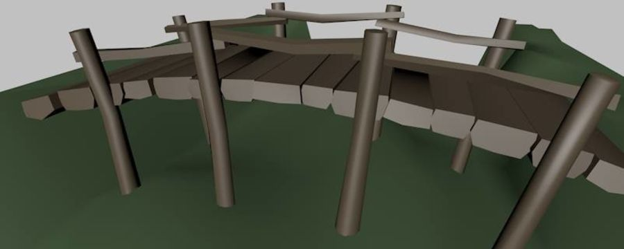 Most Low Poly nad Gulley royalty-free 3d model - Preview no. 4