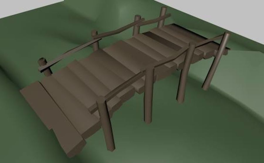 Most Low Poly nad Gulley royalty-free 3d model - Preview no. 1