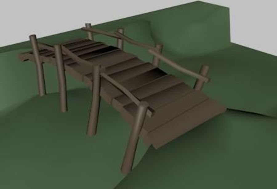 Most Low Poly nad Gulley royalty-free 3d model - Preview no. 2