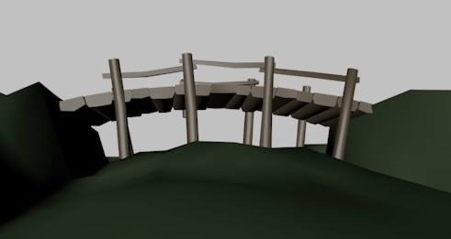 Most Low Poly nad Gulley royalty-free 3d model - Preview no. 5