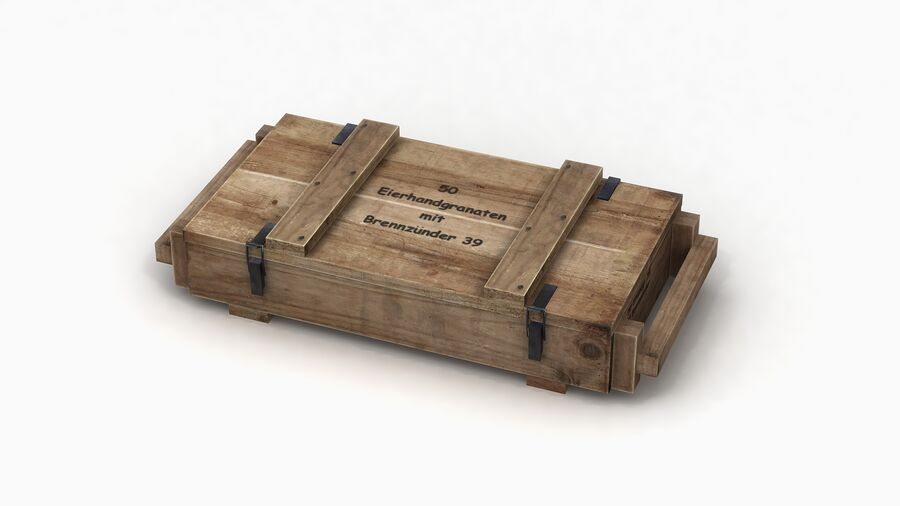 第二次世界大戦ドイツの箱1 royalty-free 3d model - Preview no. 5