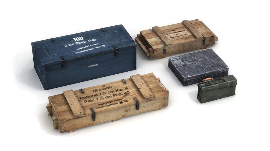 第二次世界大戦ドイツの箱1 royalty-free 3d model - Preview no. 2