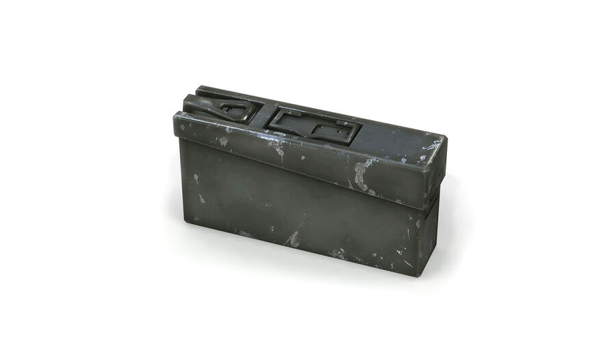 第二次世界大戦ドイツの箱1 royalty-free 3d model - Preview no. 7