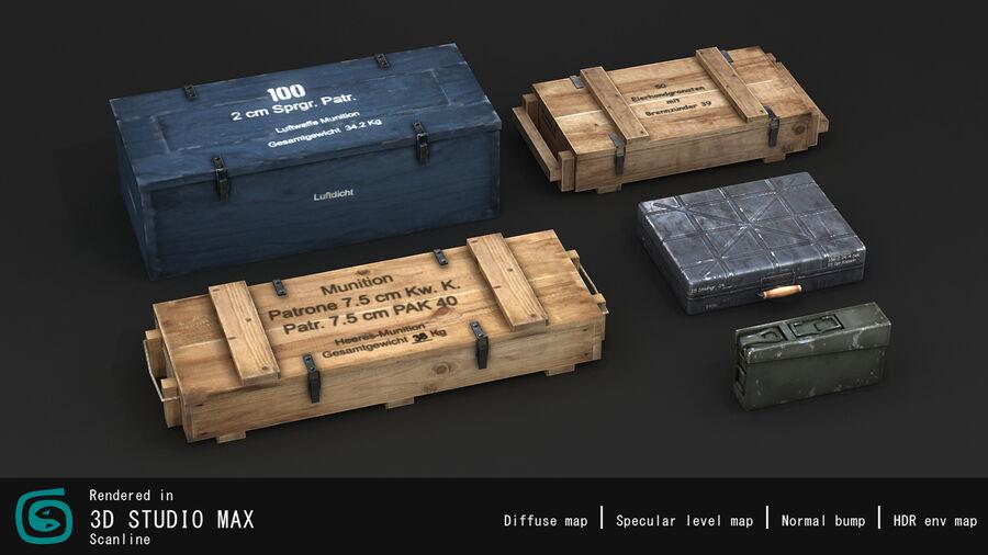第二次世界大戦ドイツの箱1 royalty-free 3d model - Preview no. 10