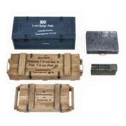 WW2 German Crates 1 3d model