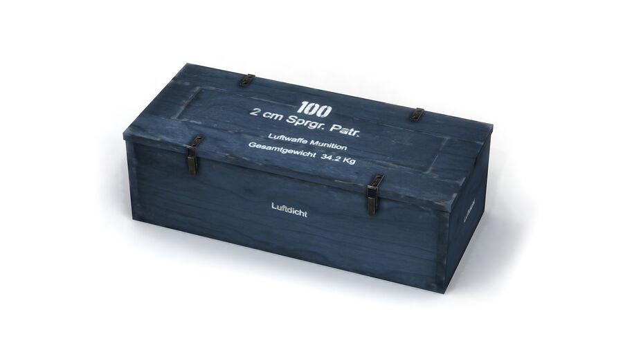 第二次世界大戦ドイツの箱1 royalty-free 3d model - Preview no. 3