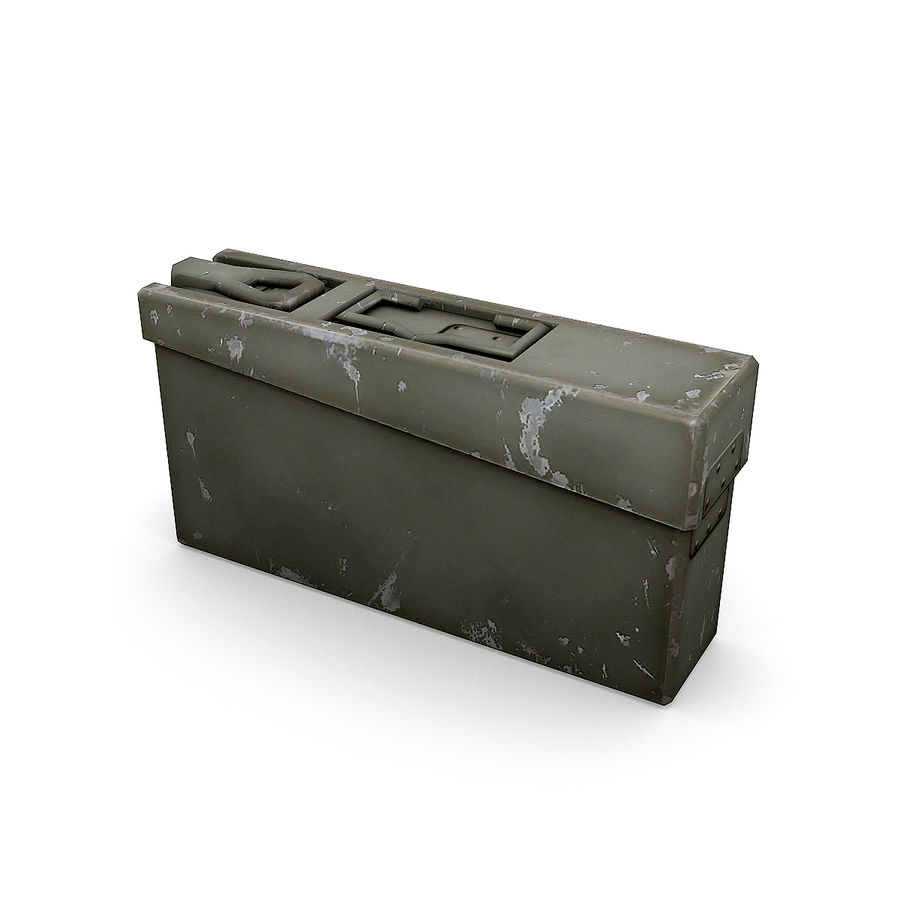 WW2 Ammo Crates 1 royalty-free 3d model - Preview no. 4