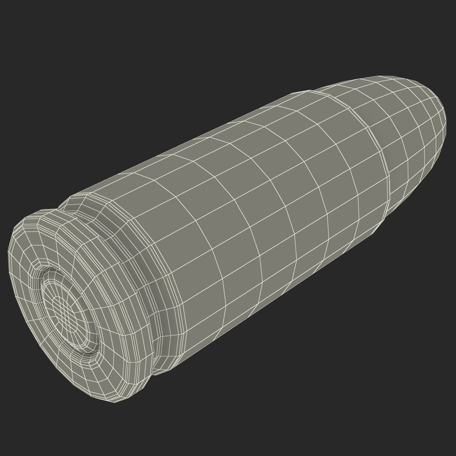 9mmカートリッジ3Dモデル royalty-free 3d model - Preview no. 16