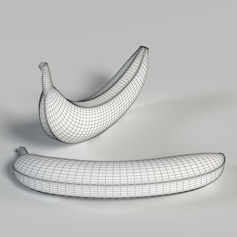 Banana royalty-free 3d model - Preview no. 12