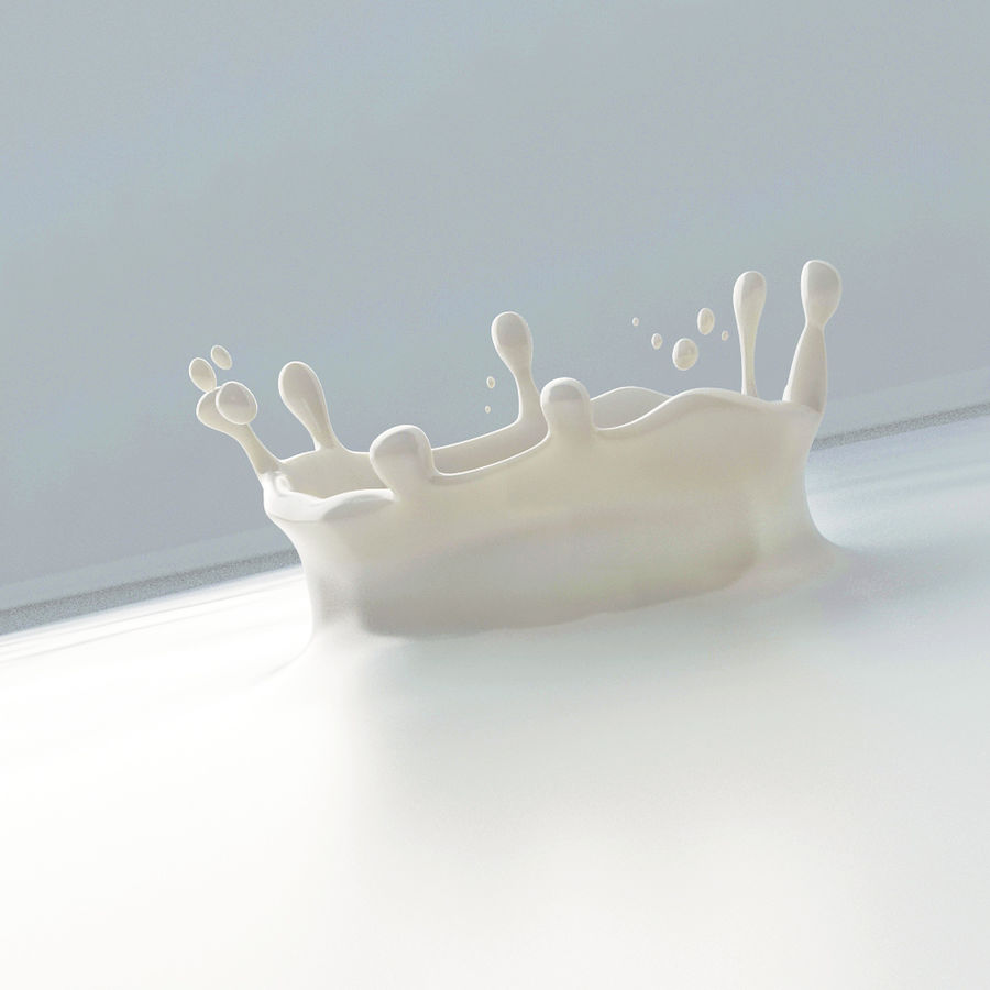 Gota de leche royalty-free modelo 3d - Preview no. 7