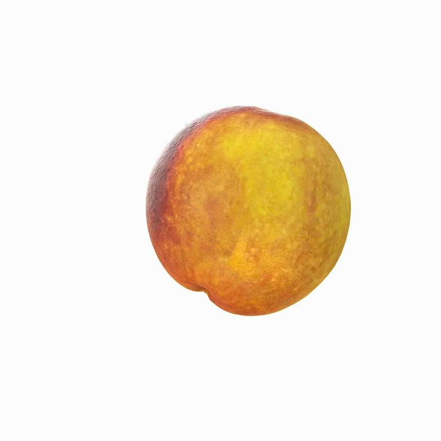 Tropical Realistic Peach royalty-free 3d model - Preview no. 9