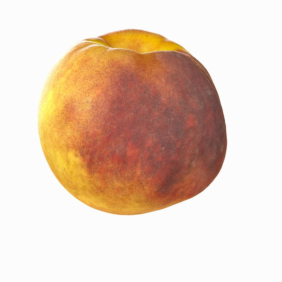 Tropical Realistic Peach royalty-free 3d model - Preview no. 11